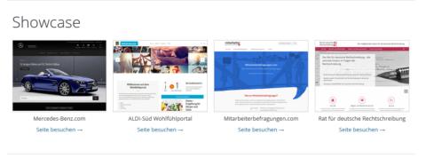 Mit WordPress erstellte Seiten