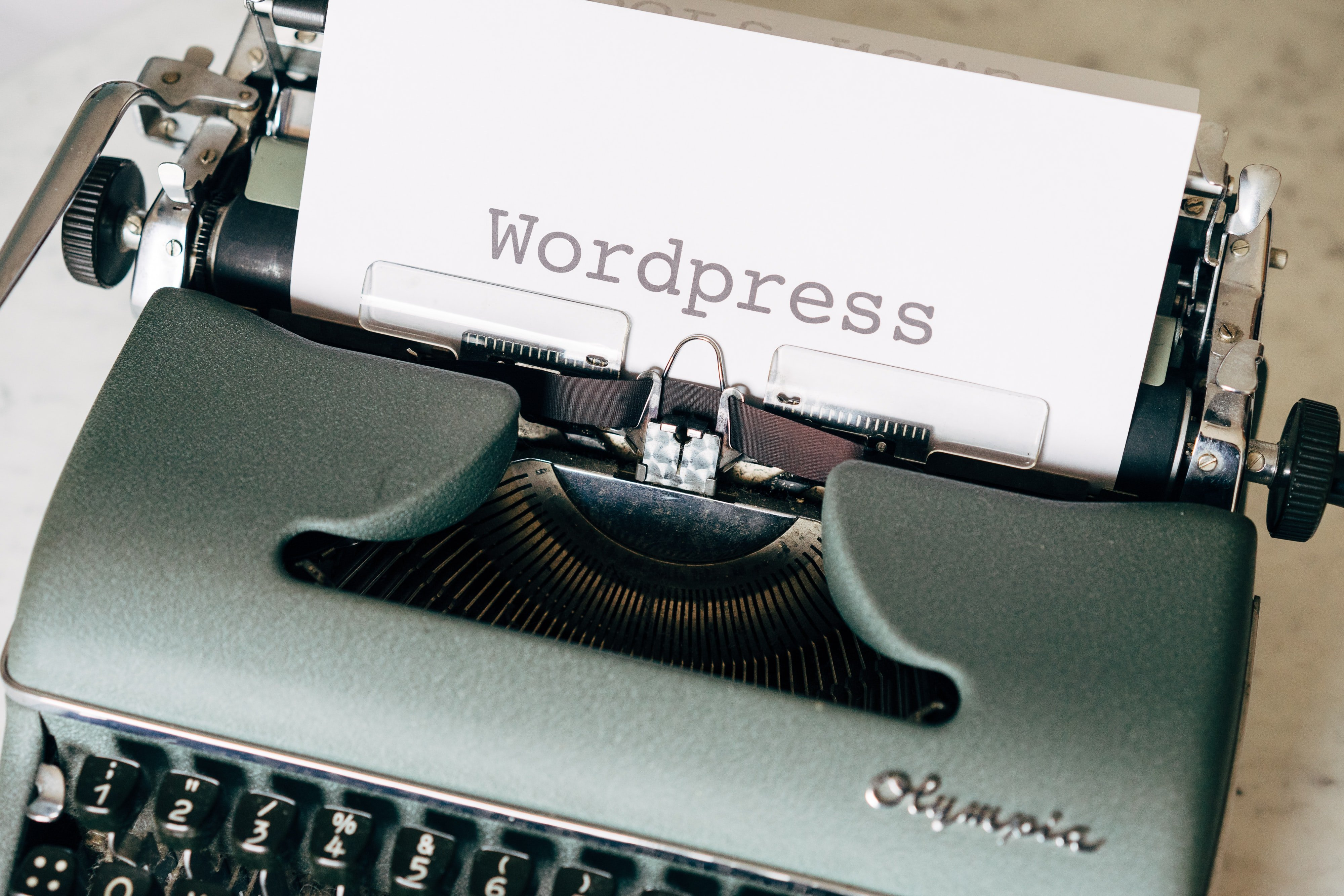 Schreibmaschine mit Wordpress